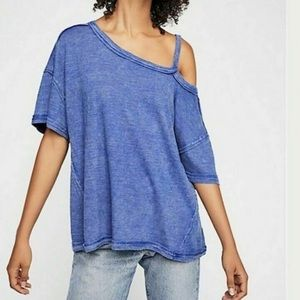 Free people cut out off shoulder tee shirt NWT